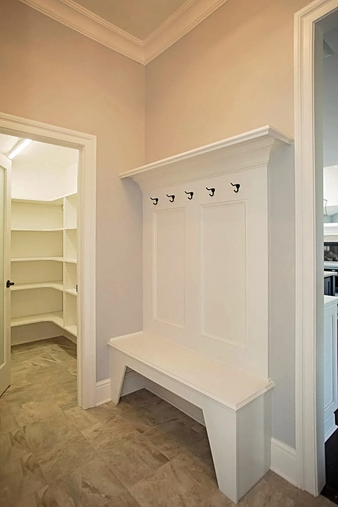 Mudroom and pantry tuscany benjamin marcus homes for Mudroom pantry