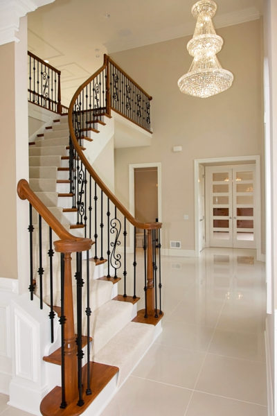 Entryway in Tuscany Home