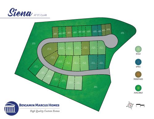 Siena Site Plan