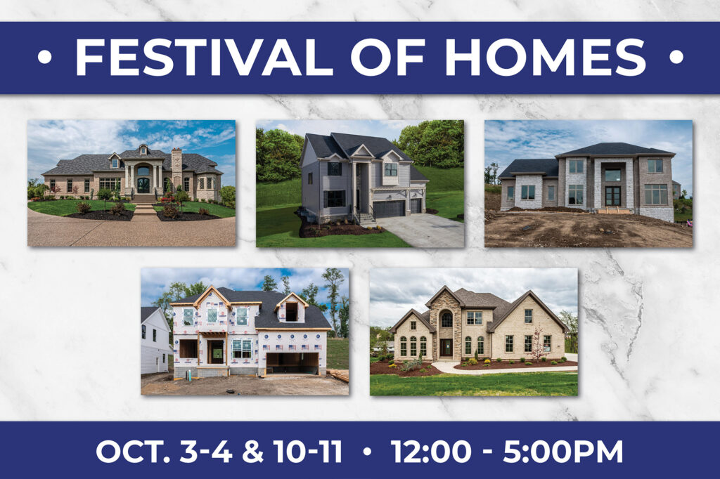 Benjamin Marcus Homes Festival of Homes with five luxury homes shown.