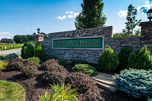 Entrance of Emerald Fields