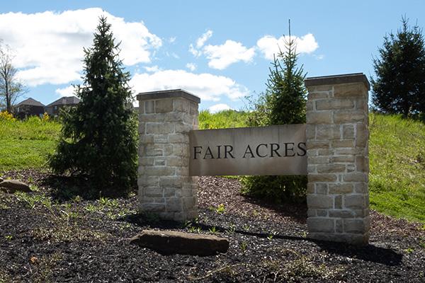 Entrance of Fair Acres