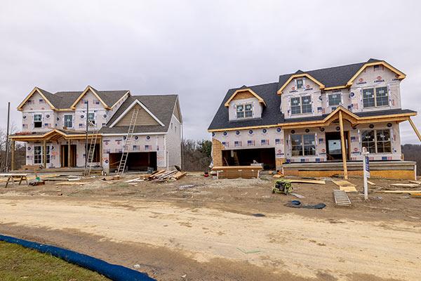 Homes being built in Regents Park
